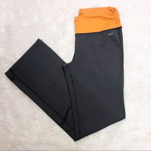 Victoria secret VSX gray & orange yoga pants Med